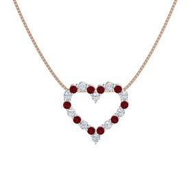 Palladium Pendant with Ruby and Diamond