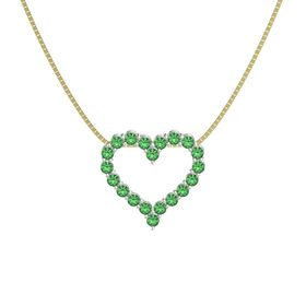 Platinum Necklace with Emerald