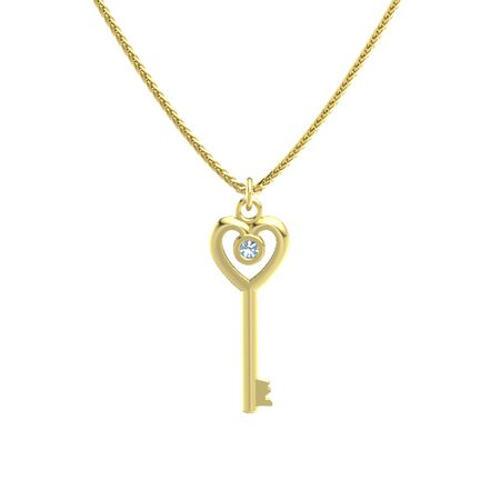 Heart Key Pendant