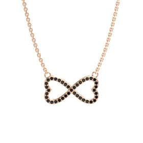 14K Rose Gold Necklace with Black Diamond
