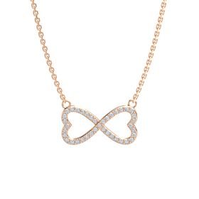 14K Rose Gold Necklace with Diamond
