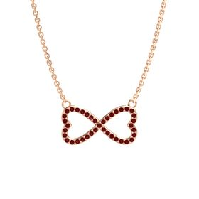 14K Rose Gold Necklace with Ruby