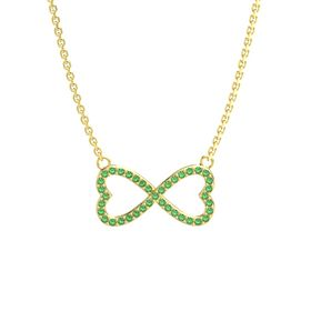 14K Yellow Gold Necklace with Emerald