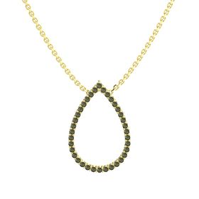 14K Yellow Gold Pendant with Green Tourmaline