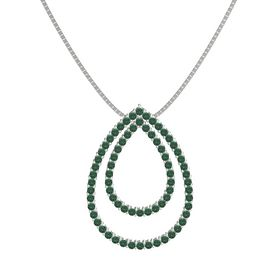 14K White Gold Necklace with Alexandrite