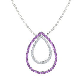 Double Brilliant Teardrop Pendant