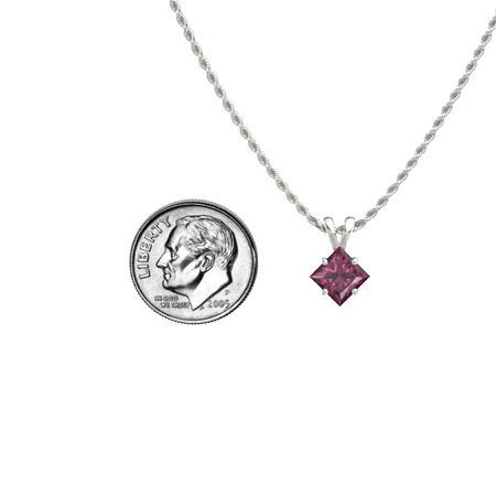 Princess-Cut Solitaire Pendant (6mm gem)
