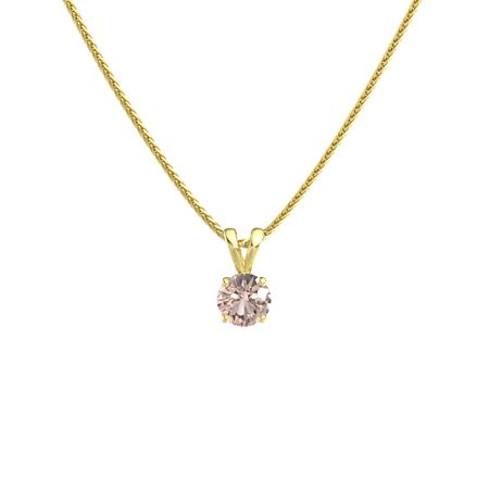 Round-Cut Solitaire Pendant (6mm gem)