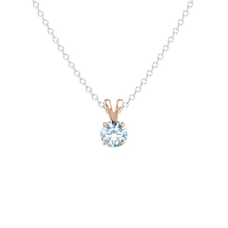 Round-Cut Solitaire Pendant (6.5mm gem)