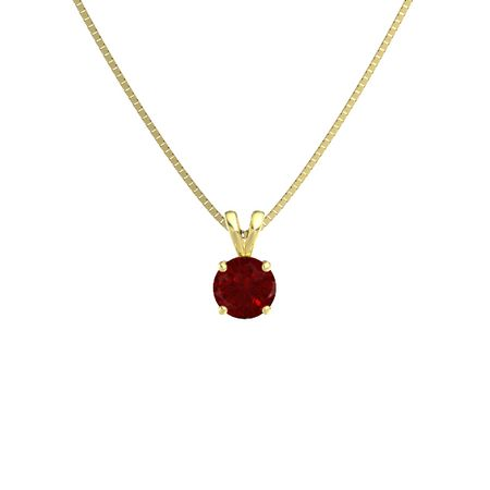 Round-Cut Solitaire Pendant (7mm gem)