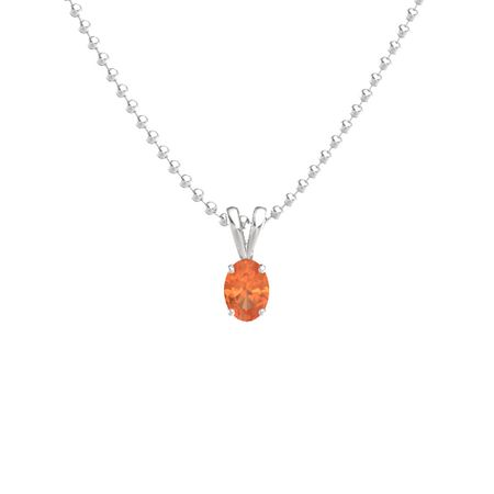 Oval-Cut Solitaire Pendant (7mm gem)