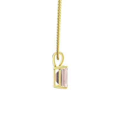 Emerald-Cut Solitaire Pendant (9mm gem)