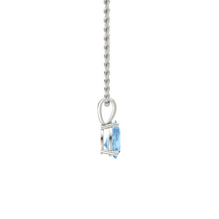 Pear-Cut Solitaire Pendant (9mm gem)