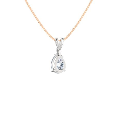 Pear-Cut Solitaire Pendant with Accent (10mm gem)