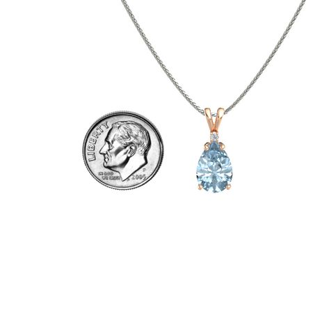 Pear-Cut Solitaire Pendant with Accent (12mm gem)
