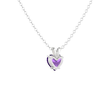 Heart-Cut Solitaire Pendant (8mm gem)