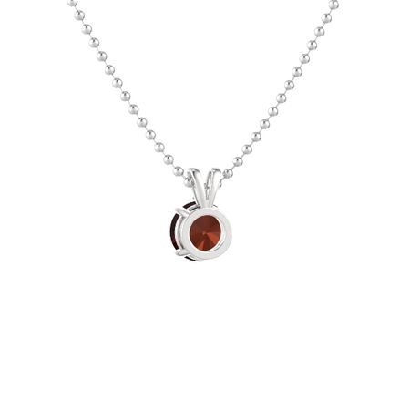 Round-Cut Solitaire Pendant with Accent (8mm gem)