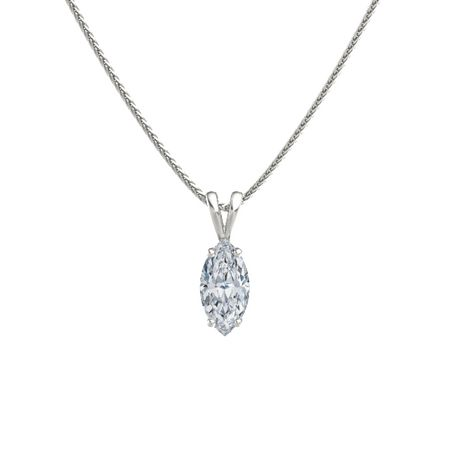 Marquise diamond 14k white gold pendant marquise cut solitaire marquise cut solitaire pendant 12mm gem aloadofball Images