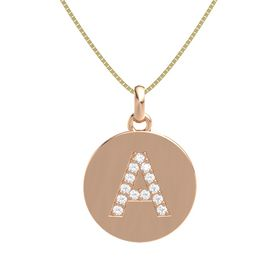 14K Rose Gold Pendant with Rock Crystal
