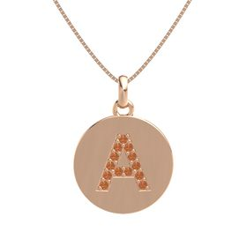 14K Rose Gold Pendant with Fire Opal