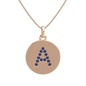 14K Rose Gold Necklace with Sapphire