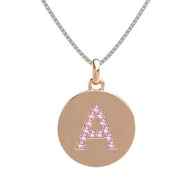 14K Rose Gold Pendant with Pink Tourmaline
