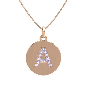 14K Rose Gold Necklace with Tanzanite