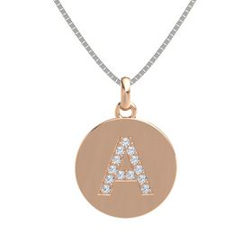 18K Rose Gold Pendant with Diamond