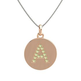 18K Rose Gold Necklace with Peridot