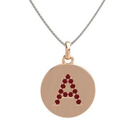 18K Rose Gold Necklace with Ruby