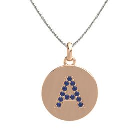18K Rose Gold Necklace with Sapphire