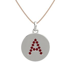 Platinum Pendant with Ruby