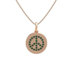 14K Rose Gold Necklace with Alexandrite