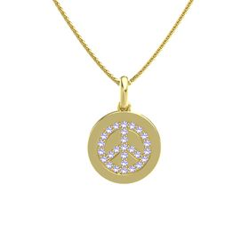 14K Yellow Gold Pendant with Tanzanite