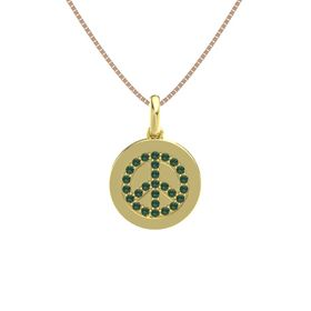 18K Yellow Gold Pendant with Alexandrite
