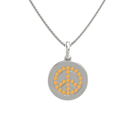 Gemstone Peace Pendant