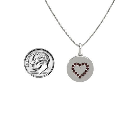 Gem Heart Disc Pendant