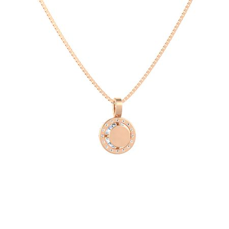Round-Cut Halo Pendant (6mm gem)