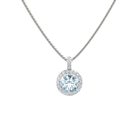 swarovski vintage style crystal glass aqua art uk necklace marine pendant deco aquamarine
