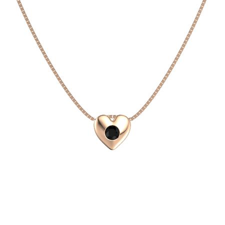 Round black onyx 14k rose gold pendant delicate heart pendant delicate heart pendant aloadofball Image collections