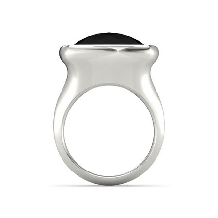 Pure Cushion Bezel Ring