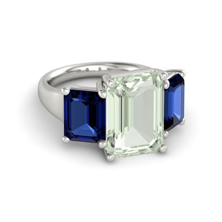 Pure Emerald-Cut Triple Ring