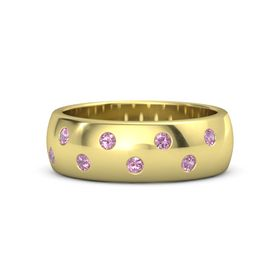 18K Yellow Gold Ring with Pink Tourmaline