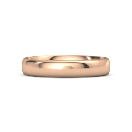 214a1172e743f Rounded Edge Comfort Fit Band (4.5 mm) - 14K Rose Gold Ring