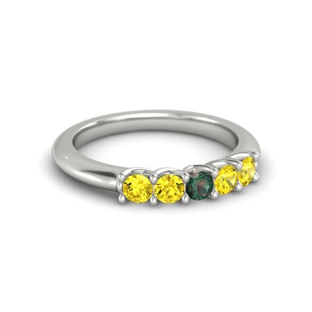 Ivy Five-Stone Band (3mm gems)
