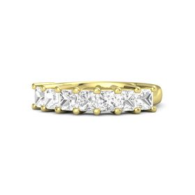 Princess Rock Crystal 14K Yellow Gold Ring with Rock Crystal
