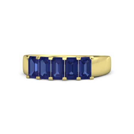 Five-Stone Deco Band (5mm gems)