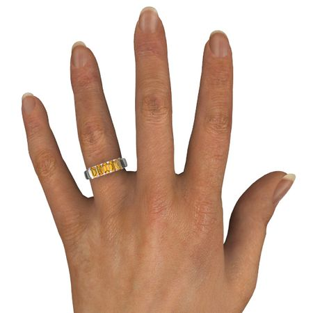 Five-Stone Deco Band