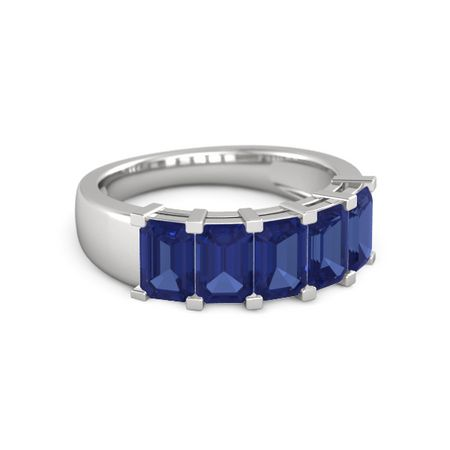 Five-Stone Deco Band (6mm gems)