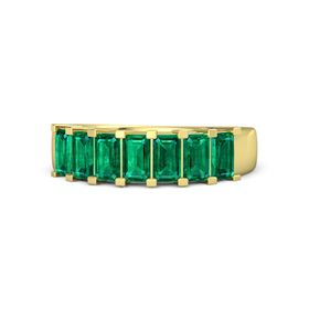 Emerald-Cut Emerald 14K Yellow Gold Ring with Emerald